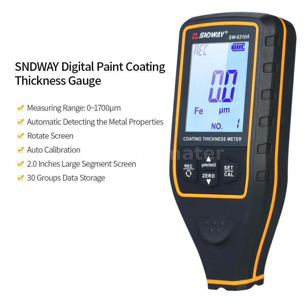 SNDWAY Digital Paint Coating Thickness Gauge Handheld Coatings Thickness W3N6