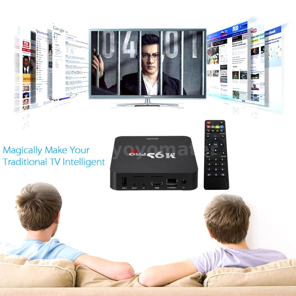 M9S-PRO Smart Android 6.0 TV Box Quad Core 4K 3G+32G WiFi HD Media Player C6V2
